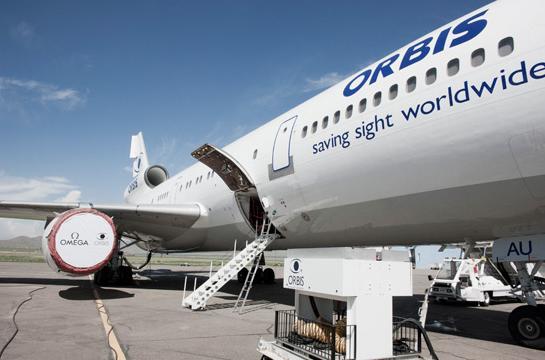 虽然正在建设中的第三代飞行眼科医院依然选用dc-10飞机,但手术设备和