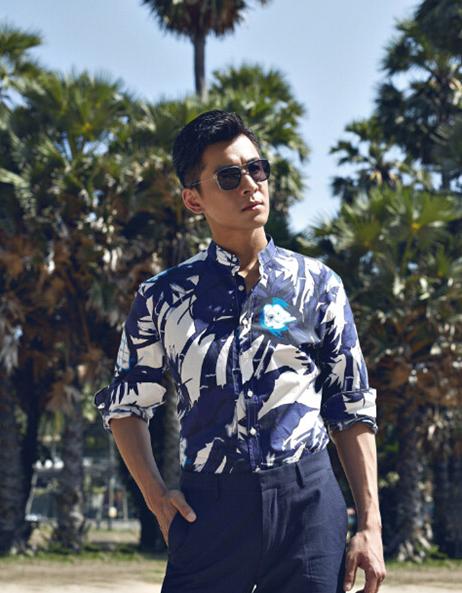 这是乔振宇赴泰国普吉岛拍摄《小资风尚》杂志社八周年特刊大片.