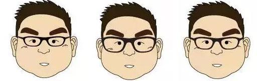除了三角形的特殊镜框之外,大脸的人并不局限于哪种形状的眼镜,但