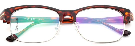 竹川木野_竹川木野 z2602 男女通用 眼镜框 c3玳瑁