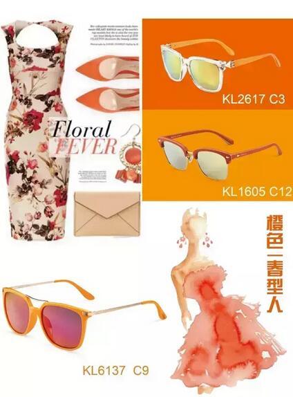 橙色春天型人的墨镜搭配