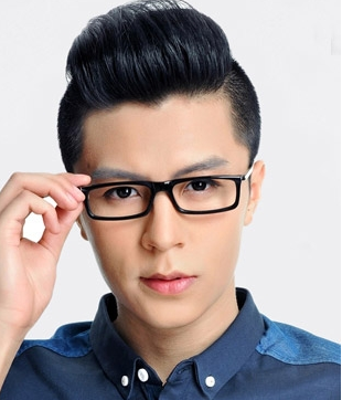 有什么发型适合戴眼镜的男士图片