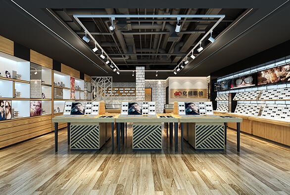 而且眼镜店的柜台都是开放式,可以自由选购,款式多,种类全,主要是网上