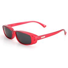 亿超太阳镜 8802c63红色 女士 近视太阳镜套镜 中码 偏光墨镜
