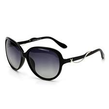 2014新品 亿超YC9801C1黑色 女款时尚 复古大框 偏光太阳镜