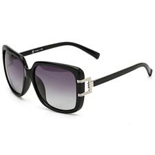 安踏 AT8005C1 黑色 时尚太阳镜 大框 偏光墨镜