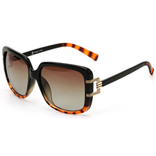 安踏 AT8005C8 玳瑁色 时尚太阳镜 大框 偏光墨镜