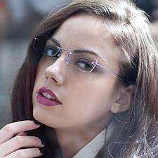 亿超FB6018C6紫色 纯钛 女款 无框眼镜