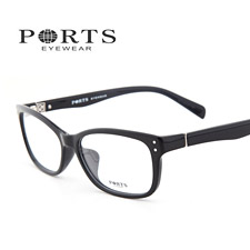 新款宝姿近视眼镜框 板材女款近视镜架 POF14303黑色