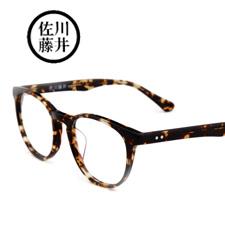 新品 佐川藤井潮款男女通用时尚板材 73568C176琥珀色全框近视眼镜