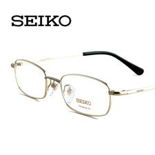 精工H01046C1金色 全框男士 商务型纯钛 近视眼镜架