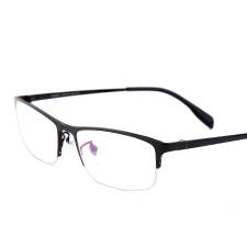 亿超新品商务钛板男士舒适质感半框近视框架眼镜FG6001C4亮黑