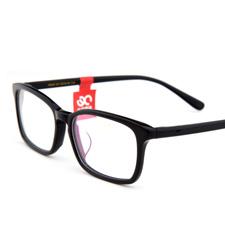 亿超男女款休闲大方薄片板材全框近视眼镜FB5030C01黑