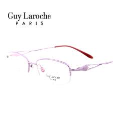 姬龙雪GL0501C07商务纯钛半框中码女士紫色近视框架眼镜