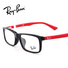 雷朋RB5318D2475休闲板材全框大码男女通用黑框红腿近视框架眼镜