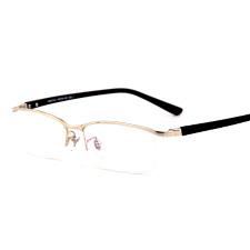 亿超FB6015c1金色 潮人镜框 男款复古眉线框 纯钛近视眼镜架