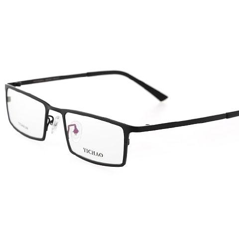 亿超7008QL大码 C7黑色 钛板眼镜框 近视 男款全框 眼镜