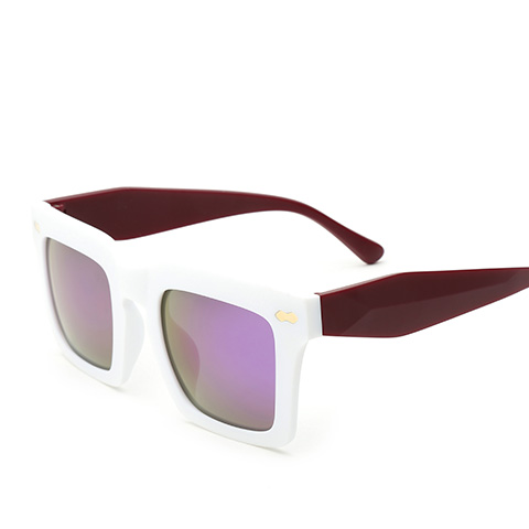 亿超 YC9705 通用 太阳镜 C7白/炫彩紫