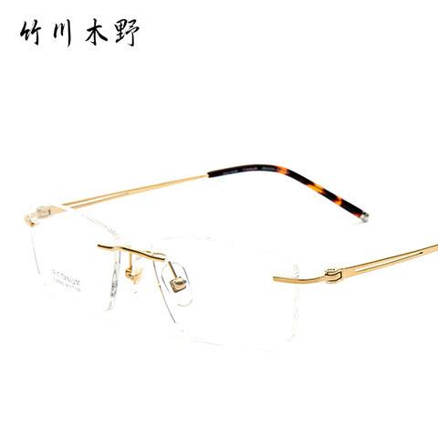竹川木野_竹川木野 ou90093 男士 眼镜框 金色