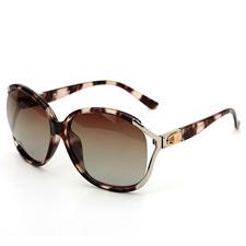 安踏AT8002C8玳瑁色 大框墨镜 潮人 时尚女款 正品 偏光太阳镜