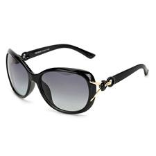 亿超 YC9105C1 雅致黑 女款 时尚偏光太阳镜 欧美复古大框 墨镜