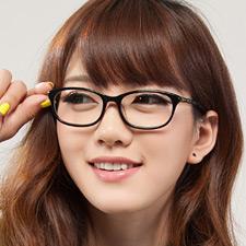 亿超FB5009C1 框黑腿绿 复古大框 女士 板材近视眼镜