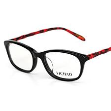 亿超FB5009C3 黑框腿红 复古大框 女士 板材近视眼镜