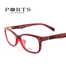 新款宝姿近视眼镜框 板材女款近视镜架 POF14303红色RD