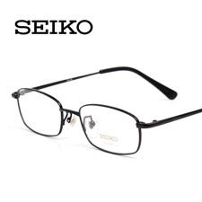 精工H01046黑色C3 全框男士 商务型纯钛 近视眼镜架