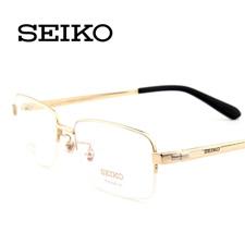 精工HT01078C25金色 新品 男士商务 超轻纯钛 半框近视眼镜