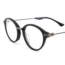 新品亿超个性时尚可爱休闲男女款轻板材全框近视眼镜707C1A磨砂黑