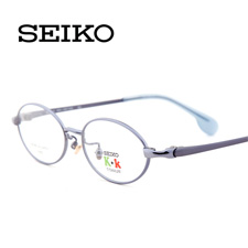 精工KK0014C GL商务纯钛全框小码儿童蓝近视框架眼镜