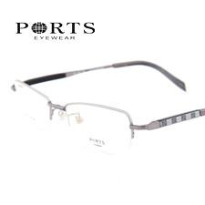 新款 宝姿商务纯钛 超轻半框男款 PT2328SIL枪色近视眼镜