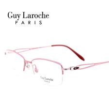 姬龙雪GL0503C07商务纯钛半框中码女士粉色近视框架眼镜