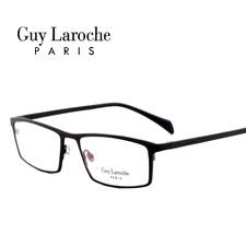 姬龙雪GL0511C04商务纯钛全框大码男士黑色近视框架眼镜