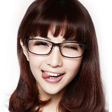 亿超 钨碳 全框眼镜框 亮黑色 小码休闲男女通用 Y0002C2