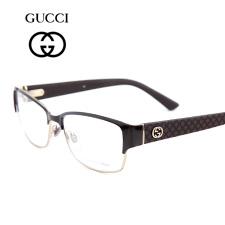 古驰GUCCI金属注塑GG4264棕色LOZ全框男士近视眼镜框架
