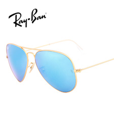 雷朋 RB3025 男女通用 太阳镜 112/17金框蓝片(五彩)