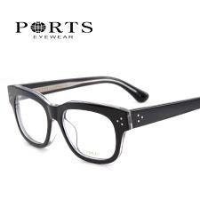 宝姿POM13205黑色BK板材潮款大码中性近视镜架