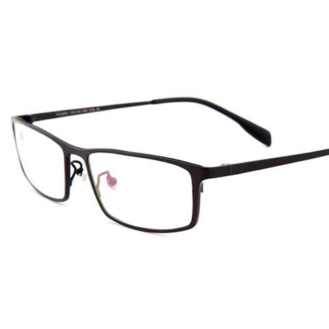 亿超 纯钛 全框眼镜框 哑黑色 商务百搭男款 FG6002C4A
