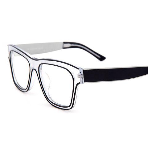 新品亿超时尚板材男女潮款全框大码近视框架眼镜709Y46白色