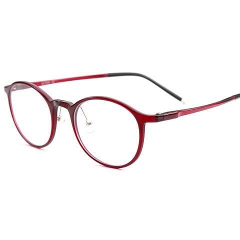 亿超 钨碳 全框眼镜框 红色 百搭男女通用款 2159C3
