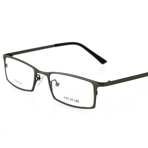 亿超 纯钛 全框眼镜框 枪色 百搭商务男款 FG7008QMC2