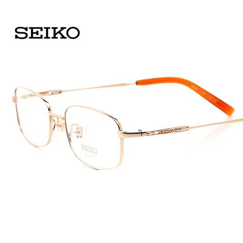 精工H1060C1金色 纯钛眼镜 男士框架眼镜