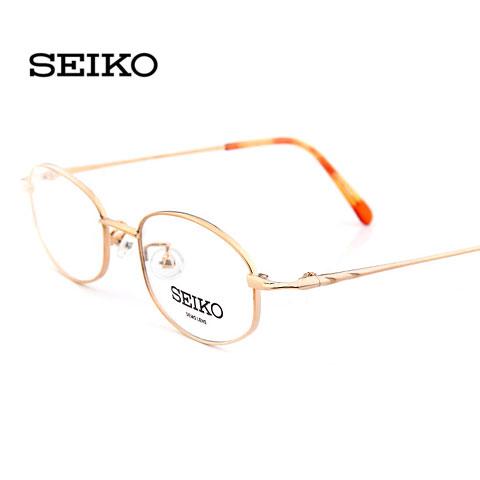 特价 精工H6035C1金色 商务男款 纯钛超轻眼镜 全框近视眼镜
