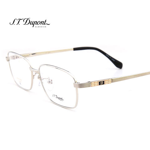 2014新款 超轻纯钛都彭 男士 DP3221C2银色近视眼镜