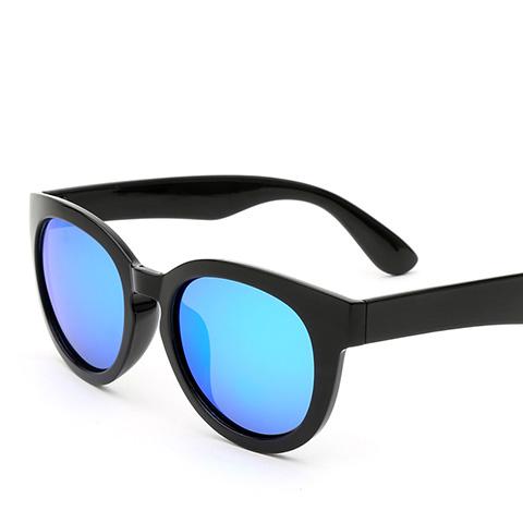亿超 YC9703 女士 太阳镜 C3黑/炫彩蓝
