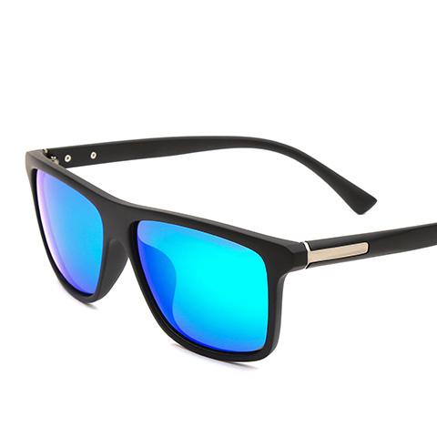 亿超 YC9706 男女通用 太阳镜 C7磨砂黑/炫彩蓝