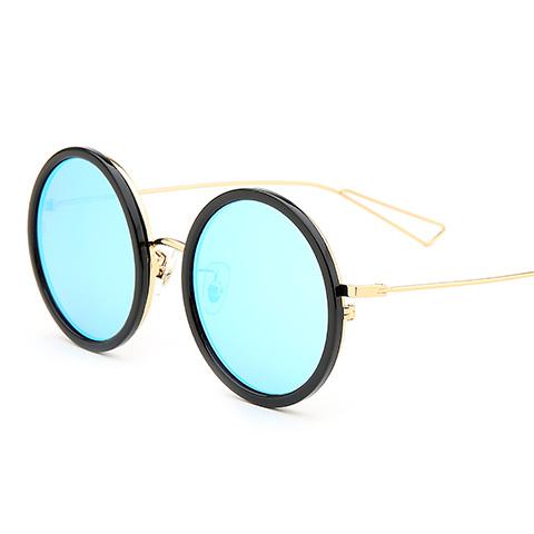 亿超 YC3026 男女通用 太阳镜 C02黑金/镜片炫彩蓝