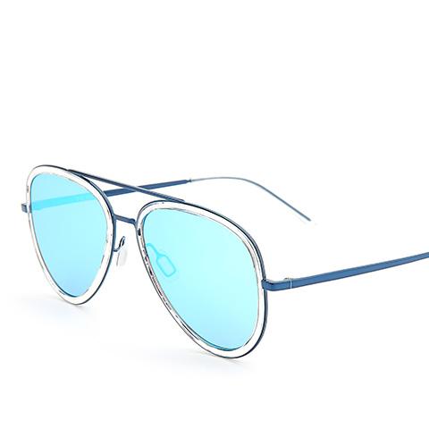 亿超 板材 蓝/镜片炫彩蓝 百搭男女通用 YC3027C03